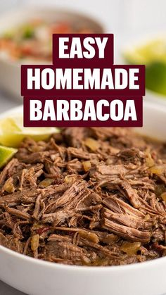 Meat Recipes, Mexican Food Recipes, Dinner Recipes, Cooking Recipes, Wendy's Chocolate Frosty Recipe, Yummy Snacks, Yummy Food, Shredded Beef, Barbacoa