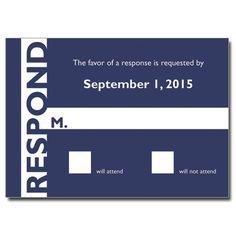 Sleek Stripe Bar Mitzvah Response Card