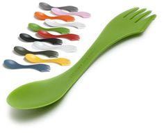 Handig op reis. Deze spork (lepel vork mes) ik kan niet zonder.
