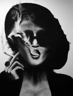 Marla Singer. Fight Club. This is so badass, I would hang it above my bed!