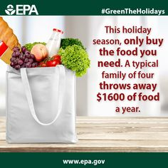 Plan your holiday meals carefully to avoid wasted food and wasted money. #GreenTheHolidays BOARD: Greening Your Holidays
