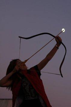 New Moon in Sagittarius ~ moon and archer