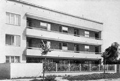 Bohdan Lachert & Józef Szanajca, Warsaw, 1935 Warsaw, Bauhaus, Poland, Multi Story Building, Art Deco, Space Age, Beirut, House, Magenta