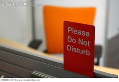 Simple Please Do Not Disturb Sign