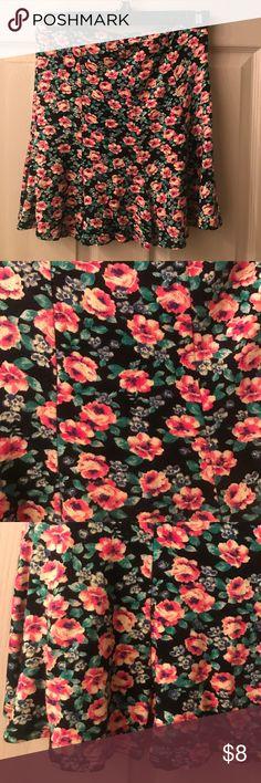 Floral skater skirt Never worn Skirts Circle & Skater