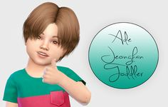 Sims 4 CC's - The Best: Ade Jeonghan - Toddler Version by Fabienne