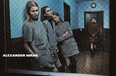 Alexander Wang's fall-winter 2014 campaign features models getting arrested.