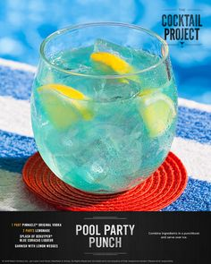Whether you're lounging poolside, or dreaming of summer, this vodka lemonade punch is the ultimate warm-weather drink. Find this recipe and other poolside drinks at TheCocktailProject.com. DRINK RESPONSIBLY © 2016 Beam Suntory Inc., 510 Lake Cook Road, Deerfield, IL 60015. All Rights Reserved. All trademarks are property of their respective owners. Please drink responsibly.