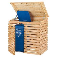 Mülltonnenbox  (Geeignet für: 2 Mülltonnen, Douglasie)