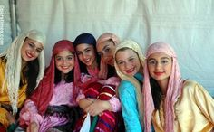 Persian Girls in traditional Dresses.