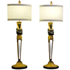 1stdibs.com | Pair of Forties Egyptian Revival Lamps