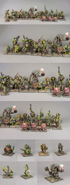 Orcs o' the Old Skull Tribe - Old School Mordheim Orcs Gang