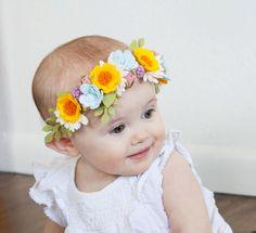 Sentía una corona de flores corona niña alegre por littleflohra