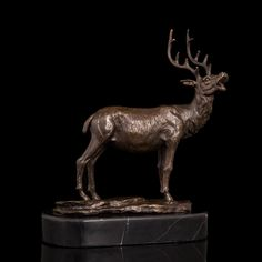 Arts Crafts Copper Sculptures Modern Deer animal head real pure Brass statues Marble Base Chritmas Gift Home Office Decoration. Yesterday's price: US $180.12 (148.60 EUR). Today's price: US $180.12 (148.60 EUR). Discount: 24%.
