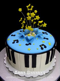 Big Cakes With Music Letters