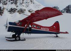 Talkeetna Air Taxi, De Havilland DHC-2 Beaver (N561TA) on a Glacier at 7000 feet in the shadow of Mt. McKinley , Alaska
