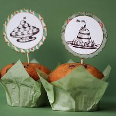Pudding rubber stamp / Dish of pudding / Unmounted by MAKIstamps