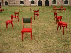 Punti di vista. Tempi Materiali. Orgiano (VI) 2009. Installazioni, con incontri e laboratori, di Oreste Sabadin.