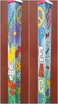 Garden Pole Painting Event at Cedar . Garden Pole Painting Event at Cedar . Garden Yard Ideas, Garden Crafts, Diy Garden Decor, Garden Projects, Yard Art Crafts, Outdoor Crafts, Outdoor Art, Peace Pole, Garden Poles