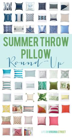 Affordable Summer Throw Pillow Round-up - Life On Virginia Street