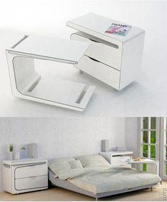 Breakfast in bed side tables - cool idea