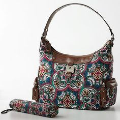Love the print on this Rosetti fabric purse with a little umbrella to boot!