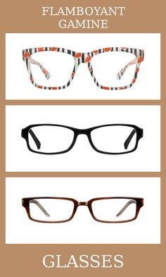 3 Pairs of Glasses for the flamboyant gamine body type, one of thirteen Kibbe body types. Flamboyant gamines have high-energy and contrasted bodies, with slightly more yang than yin. The glasses that suit them the most are unique, patterned, and a mix of feminine and masculine elements. Learn more about the Kibbe body types at cozyrebekah.com