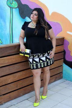 4197ab5002b15 Peplum Top- Forever 21 Geometric Print Mini Skirt- RACHEL Roy plus size  fashion