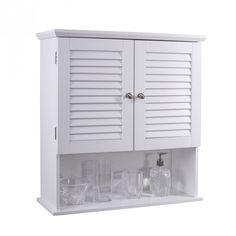 HANNA 2 Door Wall Cabinet (White) | Bathroom Furniture | JYSK Canada