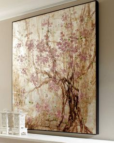"""Plum Blossom"" Original Painting at Neiman Marcus. Frames On Wall, Framed Wall, Wall Collage, Cool Walls, Wall Art Decor, Original Paintings, Fine Art, The Originals, Artwork"
