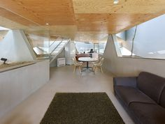 Light and roomy inside, but a bunker from the outside (follow link)