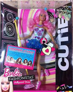 Cutie in the spotlight rockstars, 2011 New Barbie Dolls, Barbie Fashionista Dolls, Barbie Stuff, Barbie Basics, Hollywood Divas, Kids Makeup, Disney Dolls, Barbie Collector, My Melody
