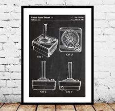Atari Controller Poster Atari Controller Art by STANLEYprintHOUSE