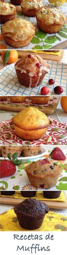 Una recopilación de las recetas de muffins de Muy Locos Por la Cocina. Puedes encontrarla en www.muylocosporlacocina.com.