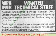 Nespak Pakistan Jobs 1