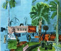 Casino of Nice, 1927-Raoul Dufy - by style - Naïve Art (Primitivism)