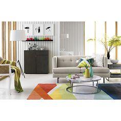 banded color stripe rug  | CB2