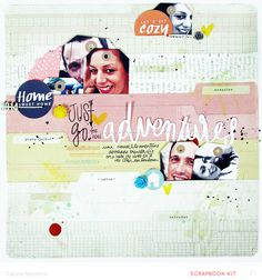 Just Go for new Adventures *Main Kit Only* by celine navarro at @studio_calico - tag shaped photos
