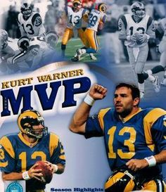 "Kurt Warner: Part of the ""Greatest Show on Turf"" Nfl Rams, Nfl Hall Of Fame, St Louis Rams, I Love La, Football Conference, Philadelphia Eagles, Nfl Football, Super Bowl, Posters"