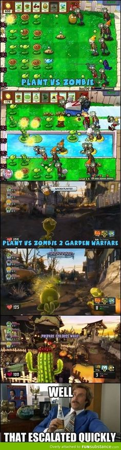 Plants vs Zombies Garden Warfare. Well that escalated quickly, lol!