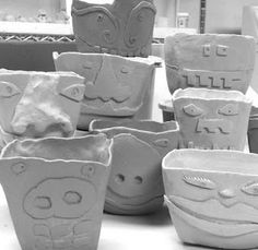 365 Days of Pinch Pots: October 2010 - square faces