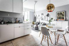decor escandinava - cozinha integrada