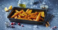Roasted Carrots In Roasting Tin Seasonal Christmas Food Photography , Christmas Food Photography, Roasting Tins, Roasted Carrots, Winter Food, Meat Recipes, Drink Recipes, Side Dishes, Dining, Vegetables
