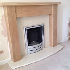 Lovely solid oak mantel installed with @legendfires superslim gas fire