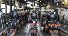 Engines in shed, Romney, Hythe & Dymchurch Light Railway.