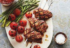 Médaillons de porc grillés, sauce barbecue maison