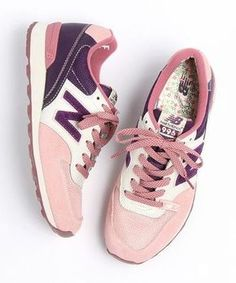 pink and purple sneakers with their liberty soles (by New Balance), I love it!