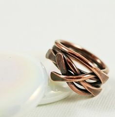 Handcrafted Jewelry by Whim Originals Wire Jewelry Rings, Jewelery, Handcrafted Jewelry, Handmade, Copper Rings, Eclectic Style, Girls Be Like, Stacking Rings, Ring Designs