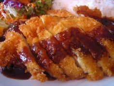 Chicken Katsu with Tonkatsu Sauce- Very easy to make. I use chicken breasts instead of thighs. Need to make this again soon!!