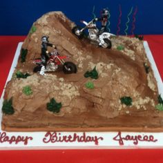 My sons dirt bike cake!! He loved it!